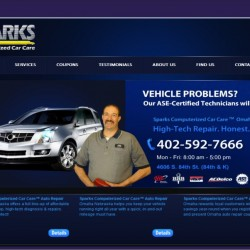 omaha neb auto repair website design